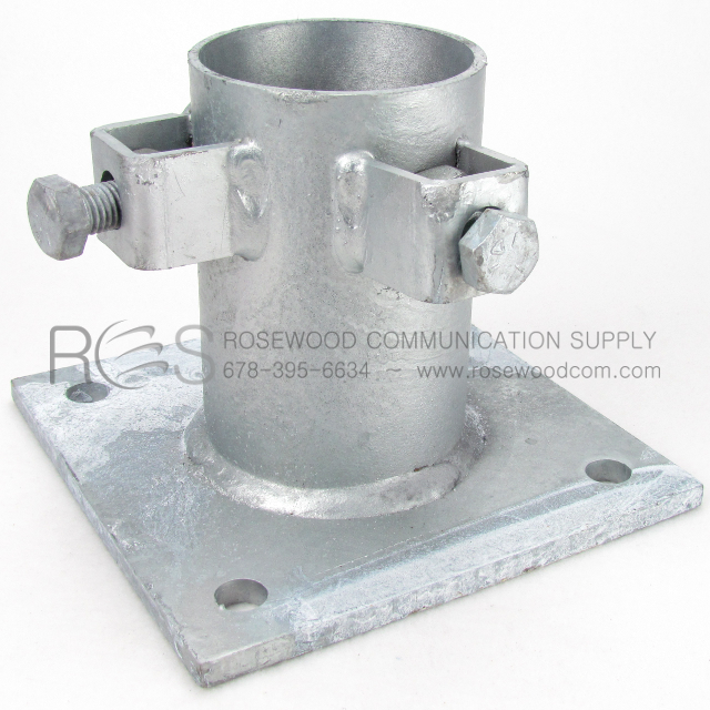 Base Plate For Pipe Rosewood Communication Supply
