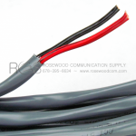 COMMUNICATION CABLE (ALARM CABLE) WITH ONE RED AND ONE BLACK CONDUCTOR IN GRAY JACKET