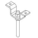 CEILING HANGER BRACKET KIT, INCLUDES ONE CEILING HANGER BRACKET AND TWO 5/8-11 HEX NUTS
