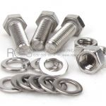 BOLT, HEX HEAD STAINLESS STEEL, FULL THREAD