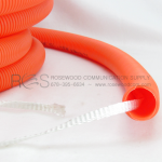 INNERDUCT, CORRUGATED ORANGE WITH PULL TAPE