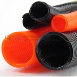 SPLIT LOOM TUBING, BLACK OR ORANGE