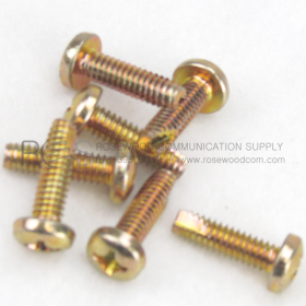 PAN HEAD PHILLIPS MACHINE SCREW, #12-24 THREAD CUTTING YELLOW ZINC