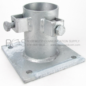 BASE PLATE SHOE FOR PIPE, HOT DIP GALVANIZED